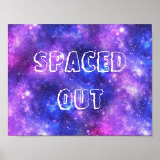 Hacia fuera espaciada galaxia póster