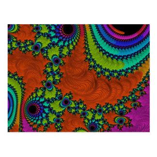 Hacia fuera fractal lejano postal