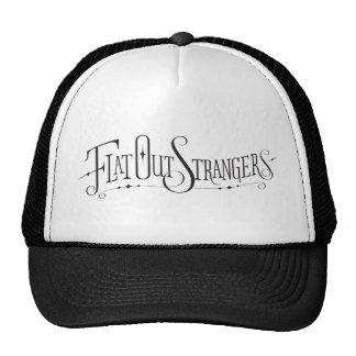 Hacia fuera gorra plano de los extranjeros