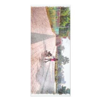 Hacia fuera para un paseo invitación 10,1 x 23,5 cm