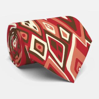 Hacia fuera Solo-side abstracto retro lejano Corbatas Personalizadas