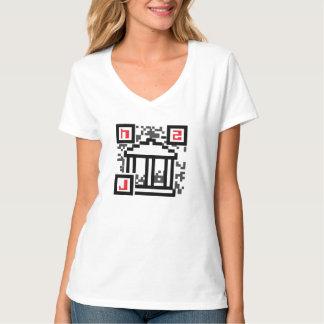 Hackcess a la camiseta con cuello de pico del