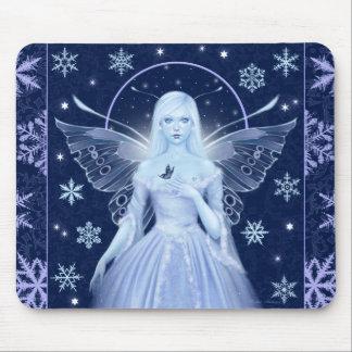 Hada azul Mousepad de la nieve Alfombrilla De Ratones