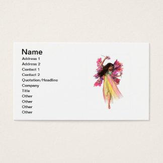 Hada del carnaval de la flor tarjeta de visita