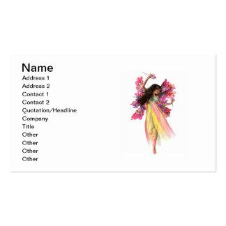 Hada del carnaval de la flor tarjetas de visita