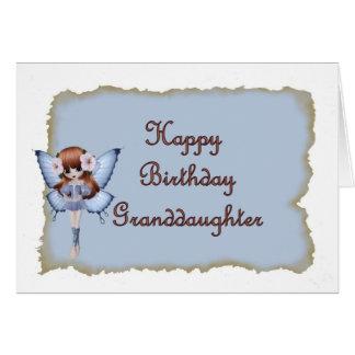 Hada del cumpleaños para la nieta tarjeta de felicitación