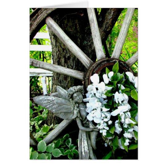 Hada del jardín tarjeta de felicitación