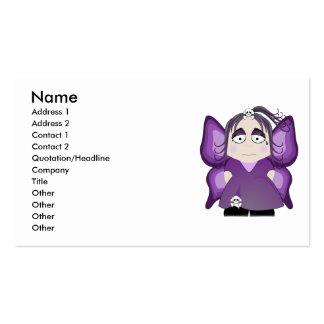 Hada gótica triste en púrpura tarjetas de visita