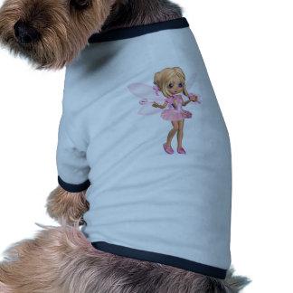 Hada linda de la bailarina de Toon en rosa - coloc Camiseta De Perro