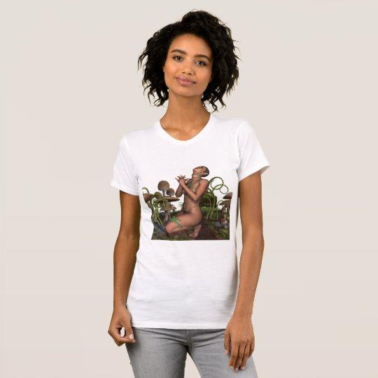 Hada mística del duende del cuento de hadas en camiseta