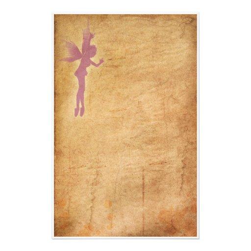 Hada púrpura  papeleria de diseño
