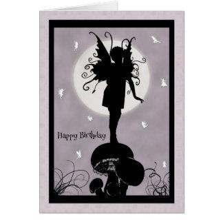 Hada que se coloca en tarjeta de cumpleaños de la