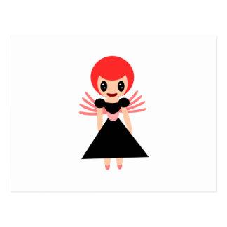Hada querida 72 con el pelo rojo postal