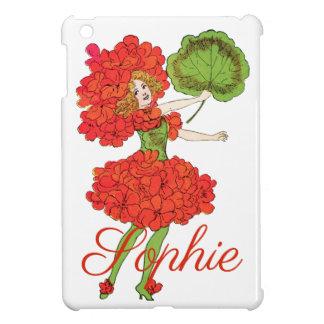 Hada roja Personnalised de la flor del vintage