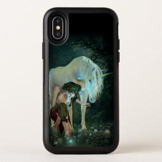 Hada y caso mágico del iPhone X de OtterBox del