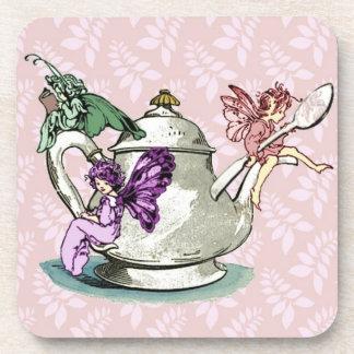 Hadas del té posavasos de bebidas