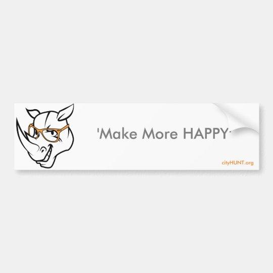 Haga a una pegatina para el parachoques más feliz pegatina para coche