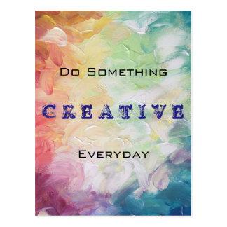 Haga algo de motivación diario creativo postal