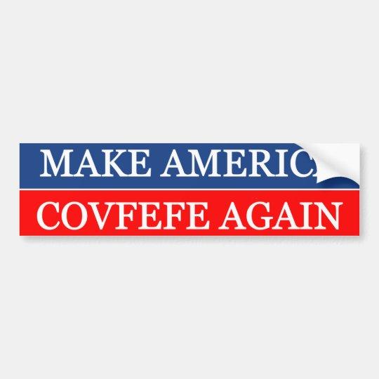 Haga América Covfefe otra vez Pegatina Para Coche