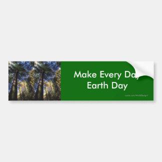 Haga cada Día de la Tierra del día Pegatina Para Coche