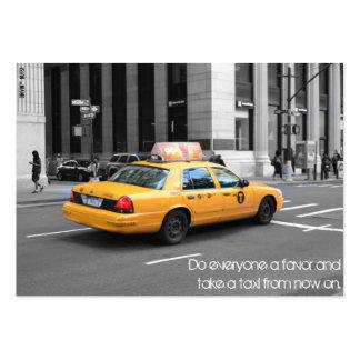 Haga cada uno un favor y tomar un taxi tarjetas de visita grandes