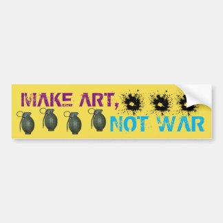 Haga el arte, no pegatina para el parachoques de