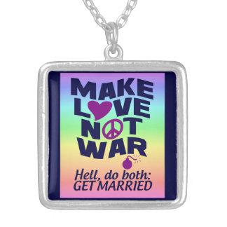 Haga el collar de la guerra del amor no