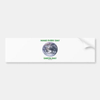 Haga el Día de la Tierra diario (la tierra de márm Pegatina Para Coche