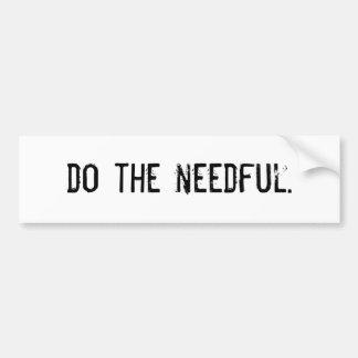 Haga el necesario etiqueta de parachoque
