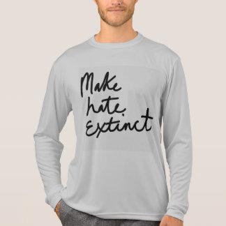 Haga el odio extinto camiseta
