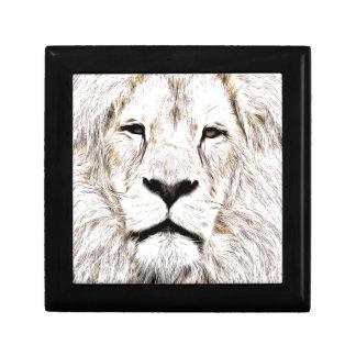 Haga frente a la cara Löwen-Gesicht Face de Lion d Cajas De Recuerdo