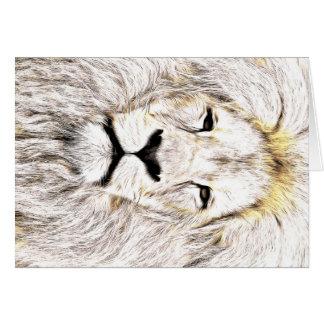 Haga frente a la cara Löwen-Gesicht Face de Lion Felicitaciones
