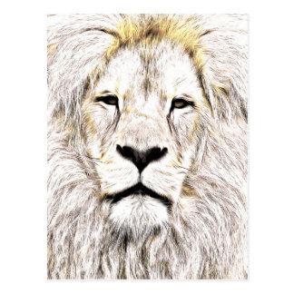 Haga frente a la cara Löwen-Gesicht Face de Lion Postal