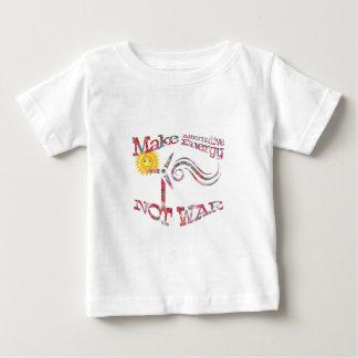 Haga guerra de la energía alternativa no el diseño camiseta de bebé