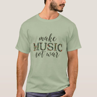 Haga guerra de la música no la camisa floral