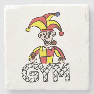Haga juegos malabares el gimnasio posavasos de piedra
