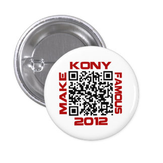 Haga Kony el código video famoso José Kony de 2012 Chapa Redonda 2,5 Cm