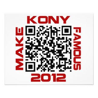 Haga Kony el código video famoso José Kony de 2012 Folleto 11,4 X 14,2 Cm