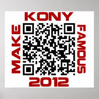 Haga Kony el código video famoso José Kony de 2012 Posters