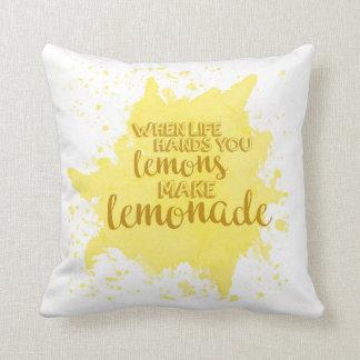 Haga la almohada de la limonada