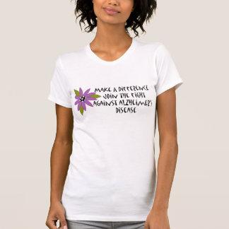 Haga la camiseta de un Alzheimer de la diferencia