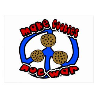 Haga la guerra de las galletas no con símbolo de p tarjetas postales