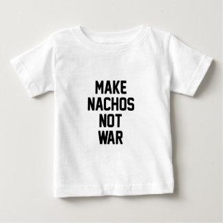Haga la guerra de los Nachos no Camiseta De Bebé