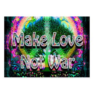 Haga la guerra del amor no tarjetas de visita grandes