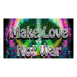Haga la guerra del amor no tarjetas de visita