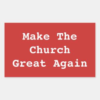 Haga la iglesia al gran otra vez pegatina