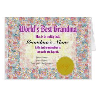 Haga la mejor tarjeta del certificado del premio