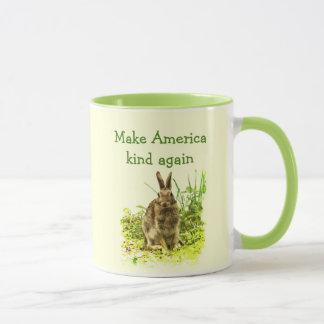 Haga la taza linda del conejo de conejito de la