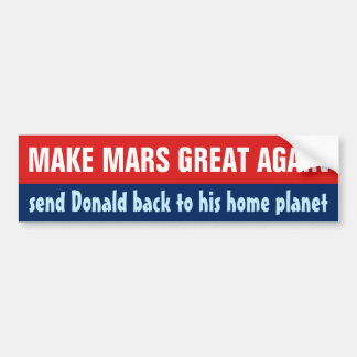 Haga Marte a gran otra vez Donald Trump anti Pegatina Para Coche