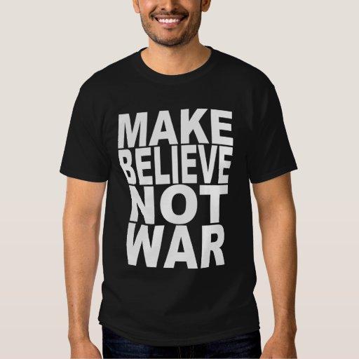 Haga para creer no guerra camisetas
